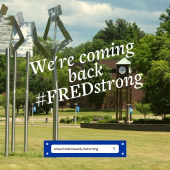 We're updating our FAQ pages as more specific information becomes available.  Stay up to date on our plans to return #FREDstrong for the fall semester!  Click on the link in the bio!